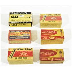 Vintage .22 Cal. Whiz - Bang Ammo