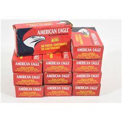 550 Rnds American Eagle 9mm Luger 124grn FMJ