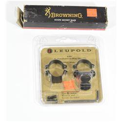 Leupold Scope Rings & Browning Base