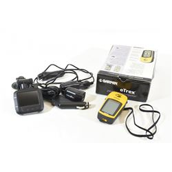 Garmin Etrex Personal Navigator and Dash Cam