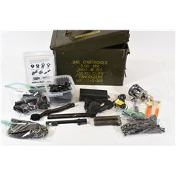 Steel Ammo Can with Gun Parts