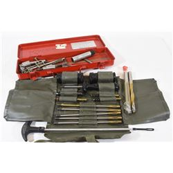 Chambering Dies, Cleaning Kit, and Drill Bits
