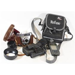Camera, Binoculars & GPS