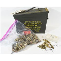 187 Rnds 223 Rem Reloads in Ammo Can