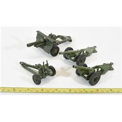 Vintage Military Toy Artillery Guns