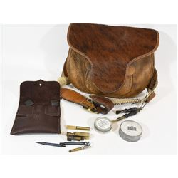 Leather Flintlock Components Pouch