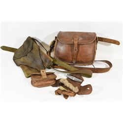 Leather Muzzle Loading Carry Pouches