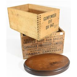 CIL Boxes and Wooden Base