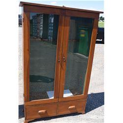Glass Front Wooden Gun Cabinet - 10 Gun