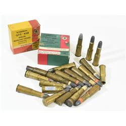 577/450 Ammunition, Brass, and Blank