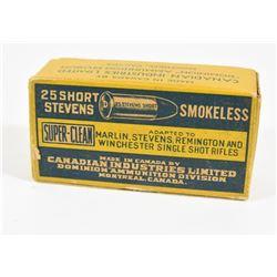 Vintage 25 Short Stevens Ammo
