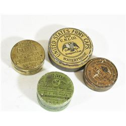 Vintage Percussion Cap Tins & Primers