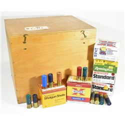 12ga ShotShells in Large Wooden Box