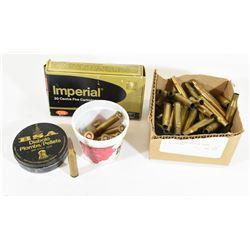 Box Lot Ammo & Brass