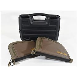 Hard Pistol Case and Two Soft Pistol Cases