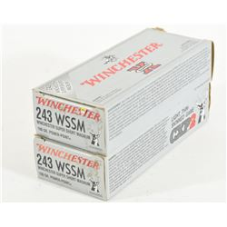 40 Rounds of 243 WSSM Ammunition