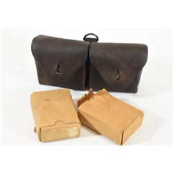 8mm Mauser Military Ammo & Ammo Pouch