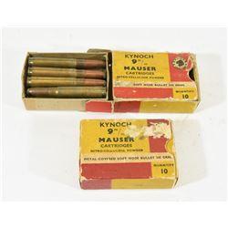 19 Rounds Kynoch 9mm Mauser Ammunition