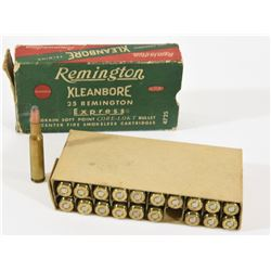 Collectable Vintage 25 Remington Ammo