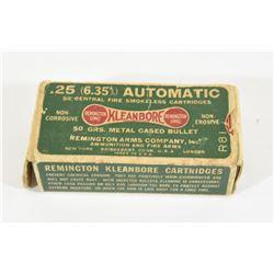 Remington 25 Auto Ammunition