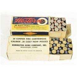 Vintage 38 Cal. Ammo