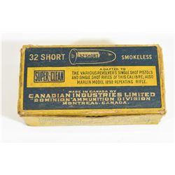 Vintage 32 Short Rim Fire Ammo