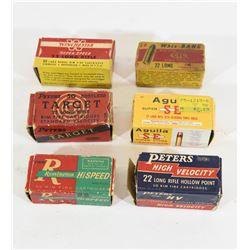 Vintage 22cal Ammunition Boxes