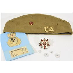 Soviet Pins and Military Cap