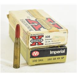 308 Win, 300 Sav and 8mm Mauser Brass and Ammo