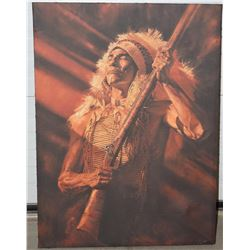 Canvas Print of Native American Warrior