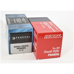 Federal Small Rifle and Small Pistol Primers
