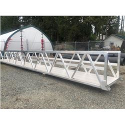 4'X42' EXPRESS CUSTOM ALUMINUM WALKWAY RAMP WITH CONTENT BASE