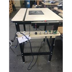 JESSEM ROUTER TABLE WITH PORTER CABLE ROUTER AND BITS