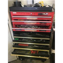 BLACK ROLLING TOOL CABINET & RED TOOL CABINET (INCLUDES ALL CONTENTS)