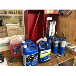 ASSORTED FIRE EXTINGUISHERS, TORCHES & FLUIDS