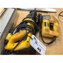 DEWALT RECIPROCATING SAW & DEWALT JIG SAW