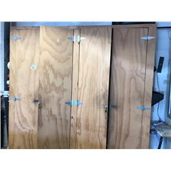 LARGE 4 DOOR CABINET WITH CONTENTS & HOLE SAWS