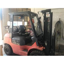 TOYOTA MODEL 7FG430 SERIAL #68276 LPG 6000 FORKLIFT WITH 2 STAGE MAST, PNEUMATIC TIRES, SIDE SHIFT &
