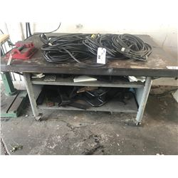 4FT X 6FT STEEL WORKBENCH ON WHEELS WITH VICE