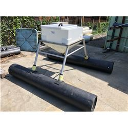 HIGH CAPACITY FISH FEED HOPPER ON STAND