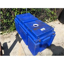 BLUE PLASTIC TANK