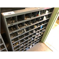 72 COMPARTMENT PARTS BIN WITH CONTENTS