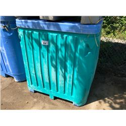 PLASTIC 267 GALLON FISH TOTE WITH LID