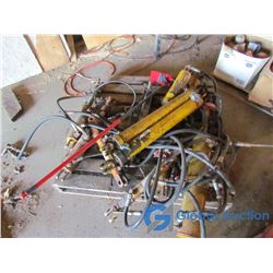 Pallet of Assorted Hydraulic Rams & Hoses
