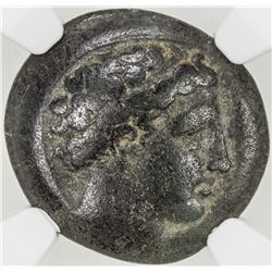 MACEDONIAN KINGDOM: Phillip II, 359-336 BC, AE 18mm. NGC VF