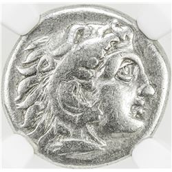 MACEDONIAN KINGDOM: Alexander III, the Great, 336-323 BC, AR drachm. NGC F