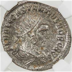 ROMAN EMPIRE: Constantius I, as caesar, 293-306, AE antoniinianus (3.78g), Antioch (293-294). NGC MS