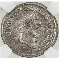 ROMAN EMPIRE: Galerius, as caesar, 293-305, BI antoniinianus (4.44g), Ticinum (293-294). NGC MS