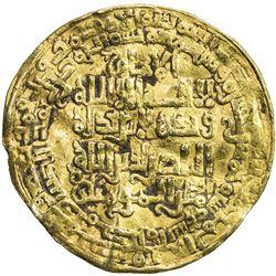 ABBASID: al-Nasir, 1180-1225, AV dinar (3.27g), Madinat al-Salam, AH615. VF