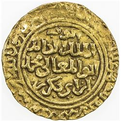 AYYUBID: al-Kamil Muhammad I, 1218-1238, AV dinar (4.33g), al-Qahira, AH633. VF-EF